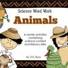 Set of 6 literacy station activities integrating science content and literacy skills. 40 word cards about animals to sort into categories, put in ABC order, or sort by syllables. Also includes literal and nonliteral language sort, definitions, and sorting phrases with attributes to mammals, birds, reptiles, amphibians, and fish.