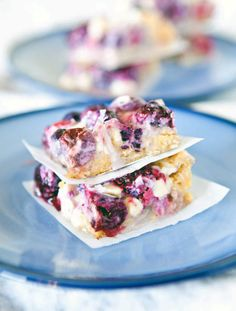 Mixed Berry White Chocolate Crumble Bars.