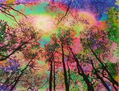 New sunrise, 16x20, Fantasy, Fine art photography, art, mixed media photo, colorful art, nature, landscape, pink, sunrise, limited edition on Etsy, $125.00