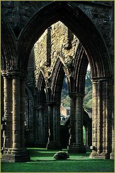 Arches, Tinturn Abbey, Wales; photograph by Thomas Wells