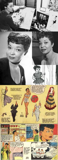 Jackie Ormes was the first African-American female cartoonist. Ormes' cartoon characters — Torchy Brown, Candy, Patty-Jo & Ginger — delighted readers of African-American newspapers such as the Chicago Defender and Pittsburgh Courier between 1937-56.