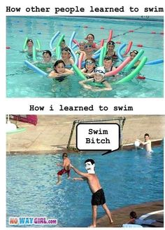 How the little asian family at Parkton teaches their kids to swim..... Makes me hate my damn job!
