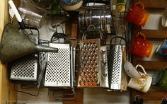 Antique cheese graters