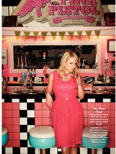 Miranda Lambert Pink Pistol her signature drink: 12oz glass with crushed ice 8oz of club soda 1tbsp of cherry syrup 1tbsp of vanilla syrup garnish with a cherry