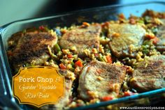 This Pork Chop and Garden Vegetable Rice Bake is a great option for a quick weeknight dinner. Don't worry about cooking and stirring rice - let the oven do the work and cook the rice for you while you relax! This homemade rice is ridiculously easy and tastes so much better than prepared rice. Topped with pork chops, this is an all-in-one meal that everyone will love.