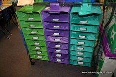 """Class Mailbox. Love this idea. Maybe even have a weekly """"mail person"""" as a job. Just have students put all mail in one box and he delivers."""