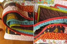 Free modern quilting pattern with easy sewing.  Perfect for boy or girl!