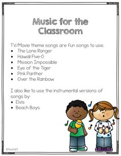 """Transitions at School, Music for the Classroom  ......Follow for """"too-neat-not-to-keep"""" fun & free teaching stuff :)"""