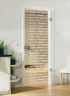 Puertas de vidrio moderna