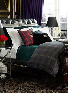 Devonshire Tartan Duvet ~ Ralph Lauren Collection for Fall 2013