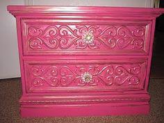 pink painted furniture, little bedroom, bedroom idea, color, clutter, dresser, bedroom sets, bedrooms, girl rooms