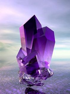 Amethyst Reiki crystal.