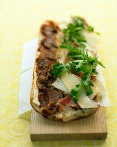 Prosciutto and Fig-Spread Sandwich Recipe