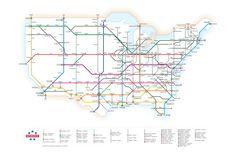 U.S. Interstates as a Subway Map