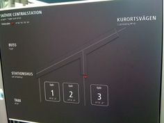 Accessible Wayfinding and Typographic Signs - skovde--central-station-sign