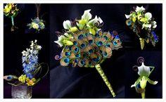 peacock floral arrangements