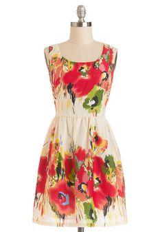 A pretty, floral dress.