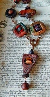 Gera Scott Chandler necklace of PC with copper.  Love this.