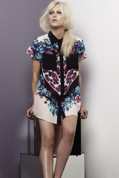 our scraf print collared shirt dress! available now! xoxo