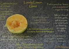 Lovely Lemon Uses...the very end of the blog