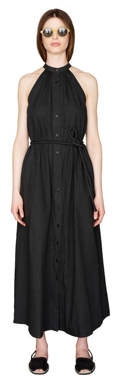 HISA LONG TRIANGLE DRESS BLACK | Apiece Apart