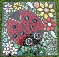 garden path, garden stone, garden plant, mosaic tile, mosaic garden, garden art, garden sculptur, flower idea, mosaic ladybug