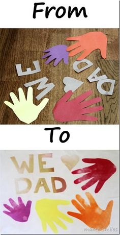 Simple and sweet Father's Day craft using Design Dye paper.