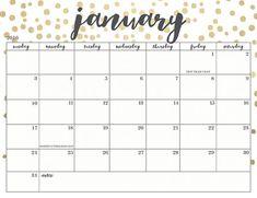 Calendar January 2018 Cute     2018 january calendar