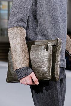 Jil Sander F/W '13 Menswear | very interesting mix of cowhide with knitwear