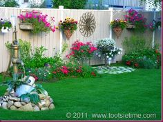 decorating a garden fence
