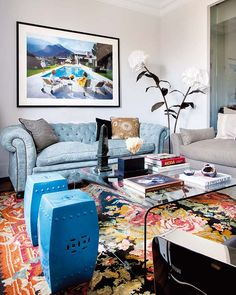 Stylish Interiors living rooms, rug, blue, house interiors, live room, house interior design, fashion designers, table designs, stylish live