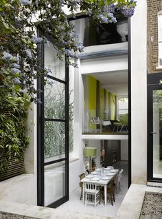 two story bifold door . Islington House . Dominic McKenzie Architects