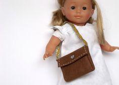 Handembellished 100% wool felt shoulder bag/purse for dolls
