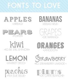 10 Fonts to Love   jessicaweibleblogs.com  ~~ {10 Free fonts w/ easy download links}