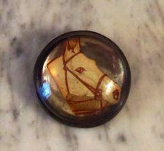 Vintage horse bridle rosette