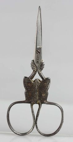 Antique 19th Century Miniature Sewing Embroidery Butterfly Scissors Germany | eBay