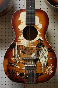 vintage cowboy guitar