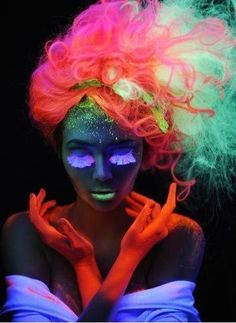 UV paint make-up/ hair ideas for performers