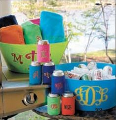 monogrammed backyard bbq party bucket $32.99 @Marley Lilly