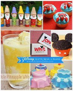 33 Disney Crafts, Ideas, and recipes #disney #diy www.KristenDuke.com