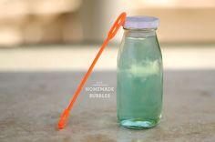 little monster: Homemade Bubbles
