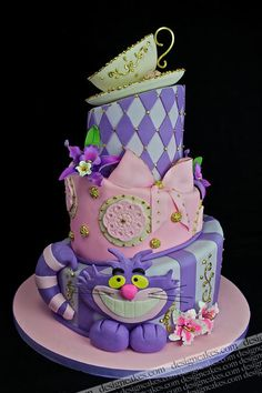 Alice in Wonderland Tea Party Cake...love this if it was in winnie the pooh