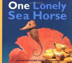 A fun tale of a seahorse who meets new friends. It's a fantastic book told through the art of food sculptures! #preschoolbookclub #onelonelyseahorsebook #seahorses #foodsculpture #mandalasj
