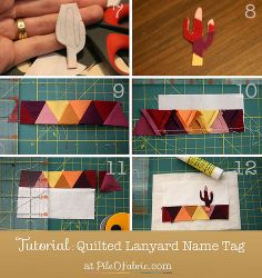 quilted name tags - Google Search