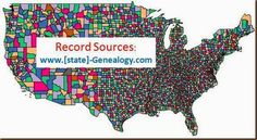 Pinner says: State genealogy website map - this is a great place to see where you can locate records for each state. And you can check by county or by the type of record.  I wrote about it on my blog today.