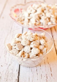 white chocolate vanilla peanut butter puppy chow.