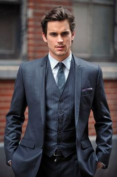 pinstripe vest- nice touch to the 3 piece suit