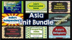 Southern and Eastern Asia Unit BUNDLE  from Brain Wrinkles on TeachersNotebook.com -  (463 pages)  - Southern and Eastern Asia Unit BUNDLE -- History, Geography, Government, and Economics