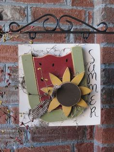 holiday sign, crafti, craft idea, fair idea, craft fair, clocks, general craft, clock ladi, arrow idea