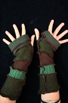 Interesting...Arm Warmers  made from upcycled sweaters by katwise on Etsy